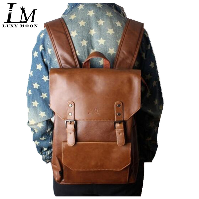 Backpack Laptop Travel-Bag School-Bags Teenage-Girls College Student Vintage Men