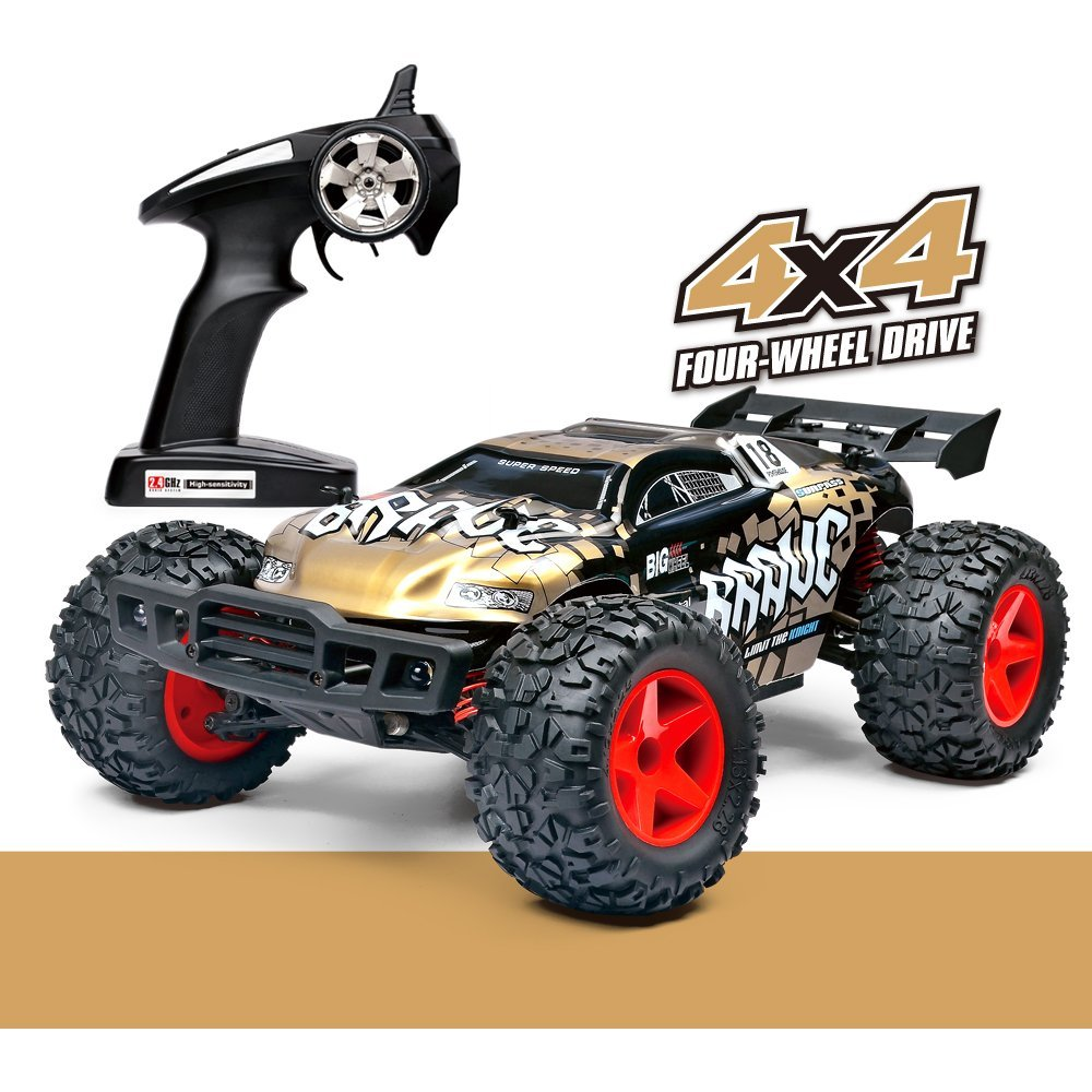 Remote Control Sport Car High Speed 2.4 GHz 4WD 1:12 Radio Control Range All-Wheel-Drive RC Car with LED Light 1 12 high speed car ratio control 2 4 ghz all wheel drive model 4x4 driving car assebled buggy vehicle toy