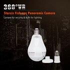 2.0MP 360 Degree Panoramic Camera Smart Home Light Bulb Design cam Wireless IP Wi-Fi Lamp cam use FishEye lens House Security