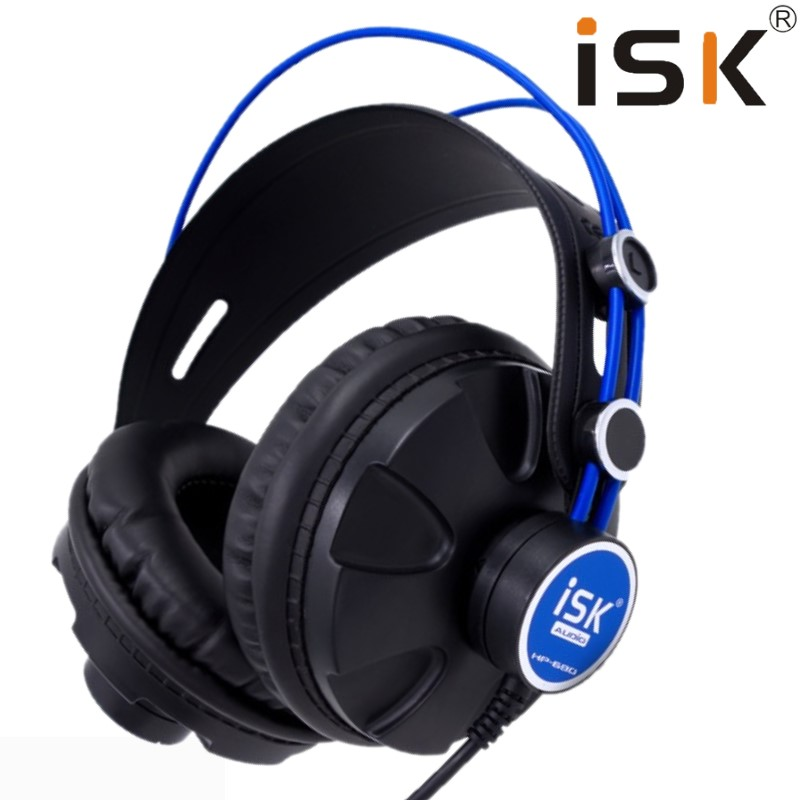 Pro Monitor Studio DJ Headphones ISK HP680 Dynamic 1200mW Powerful Over Ear Earphone Noise Cancelling HiFi