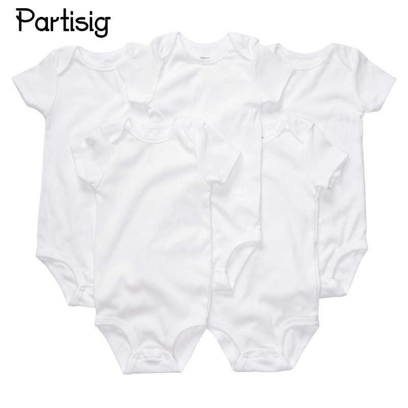 03a7b1bfd0b4 3PCS LOT Newborn Bodysuits Cotton Plain White Color Short Sleeve Bodysuit  For Baby Boy Girl