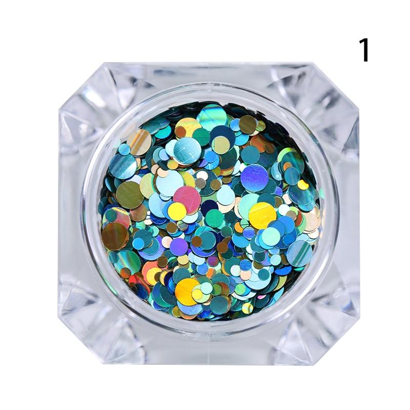 1 Box Glänzende Runde Ultradünne Pailletten Bunte Nail art Glitter - Nagel Kunst - Foto 5