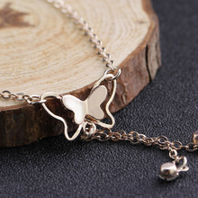 Anklet with Butterfly Pendant