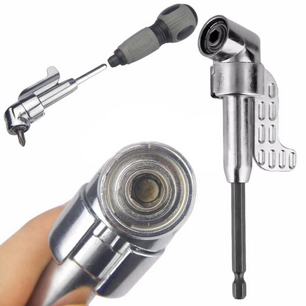 105 Degree Angle Extension Right Driver Drilling Shank Screwdriver Magnetic 1/4 Inch Hex Drill Bit Socket Holder Adaptor Sleeve