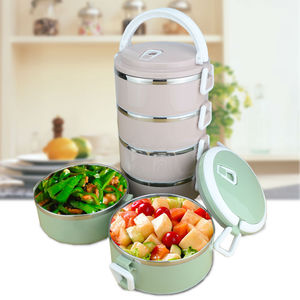 4 Layers leakproof 304 Stainless Steel lunch Box Portable Picnic Food Container bento tiffin box thermal dinnerware set