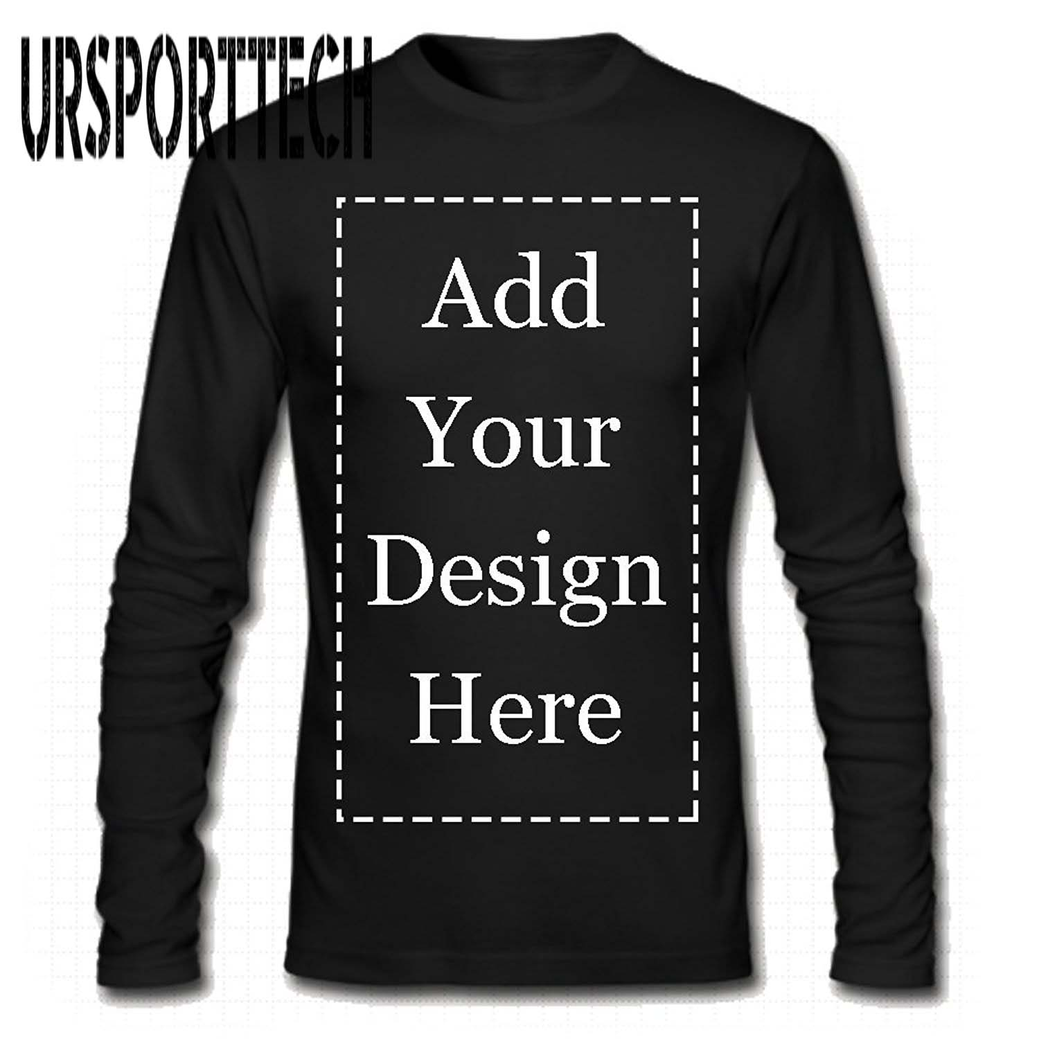 URSPORTTECH Brand Custom Men Long Sleeve T-Shirt Add Your Own Text Picture On Your Personalized Customized Tee