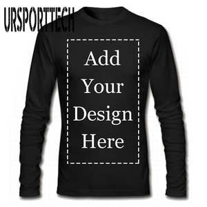 Image 1 - URSPORTTECH Brand Custom Men Long Sleeve T Shirt Add Your Own Text Picture on Your Personalized Customized Tee