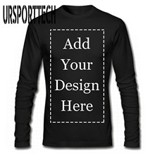 URSPORTTECH Camiseta de manga larga personalizada para hombre, camiseta de manga larga personalizada con foto de texto