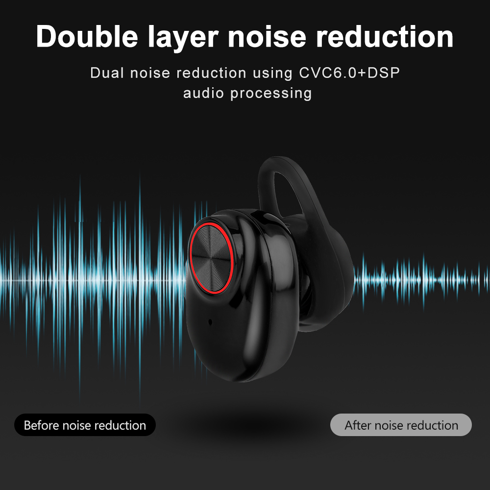Bluetooth 5.0 Earbuds Headset Stereo QI-Enabled With Charging Box - Waterproof  3