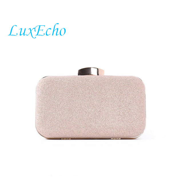 Luxecho Fashion Rose Gold Women Wedding Handbags Bridal Golden New Evening Shoulder Bag Bride Handbag Clutches
