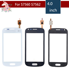 10pcs/lot For Samsung Galaxy Trend S7560 S Duos S7562 GT-S7562 7562 7560 Touch Screen Digitizer Sensor Front Glass Lens lychee grain style protective abs back case for samsung galaxy trend duos s7562 s7560 white