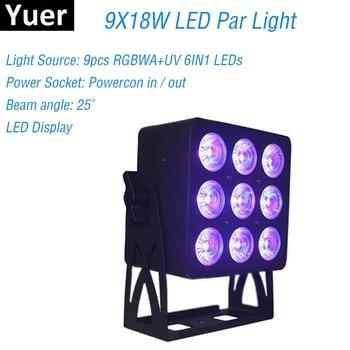 Aluminum Alloy LED Par 9X18W RGBWA+UV 6IN1 LED Par Can Par LED Spotlight Dj Laser Projector Wash Lighting Effect Stage Lights прожектор led par 64 involight led par189al