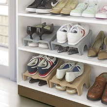 Double – Storey Shoe Storage Rack Household Plastic Simple Shoe Care Shoe Shelf Space Saving Shoe Rack