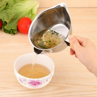 Metal grease trap bowl oil scoop filter kitchen home tools skimmer soup separator kitchen metal oil filter