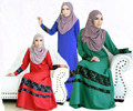 Новые Женщины Мусульманское Платье Макси Лонг Полная Длина Кружева Кафтан Абая Jibab Ganment Халат Одежда