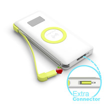 New PINENG PN-888 Power Bank 10000 mAh Portable Power Source QC3.0 Wired Wireless Fast Charging Charger Power Bank