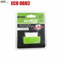 100pcs/lot Green EcoOBD2 Economy Chip Tuning Box OBD Car Fuel Saver Eco OBD2 for Benzine Cars Fuel Saving 15%
