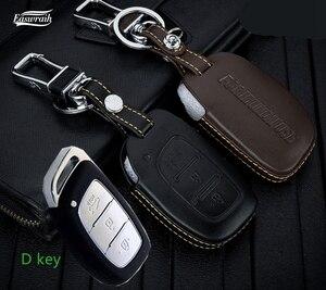 4D высококачественный кожаный чехол для автомобильного ключа, чехол-держатель для Hyundai IX35 IX25 IX45 Creta Avante Porter Grandeur Santafe Sonata Solaris