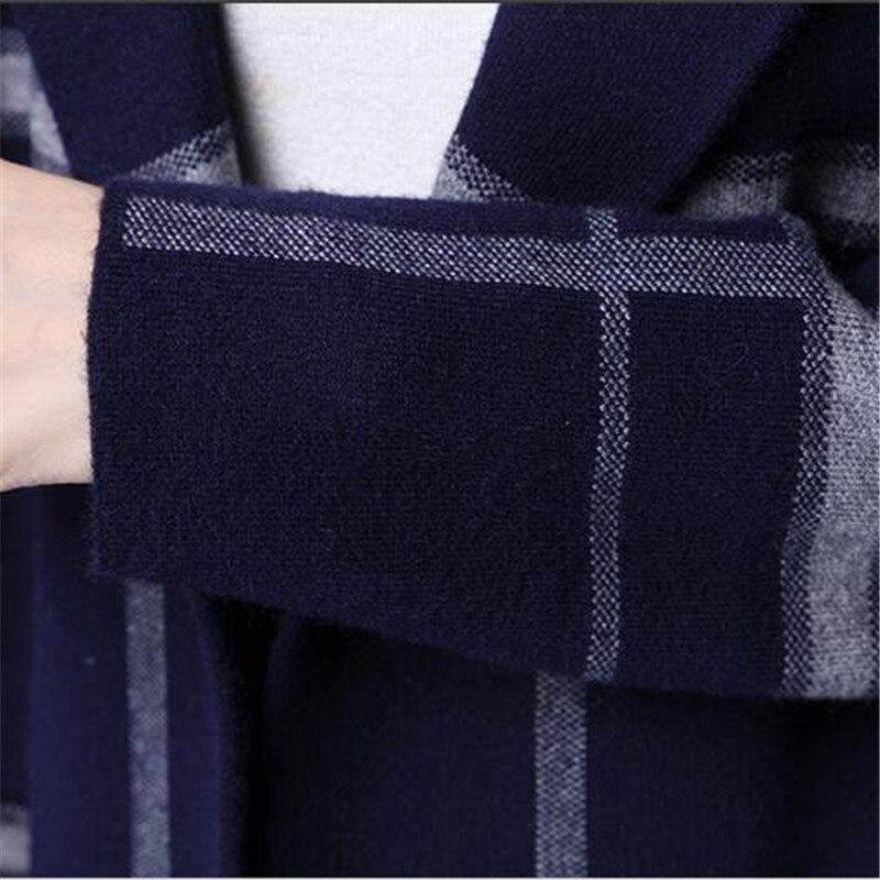 Blue Cardigan Femmes black Élégantes Automne Taille Grande Lâche Vêtements Poussière Chandail Qualité Bn2410 Manteau Top gray Nouvelle Tricot Mode 7wTqtaO