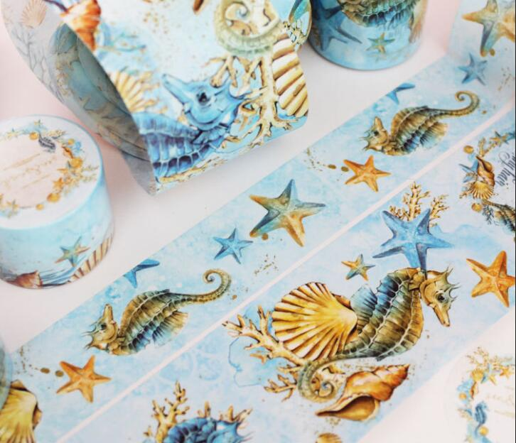 все цены на Creative Special Sea Animal Washi Tape DIY Scrapbooking Sticker Label Masking Tape School Office Supply