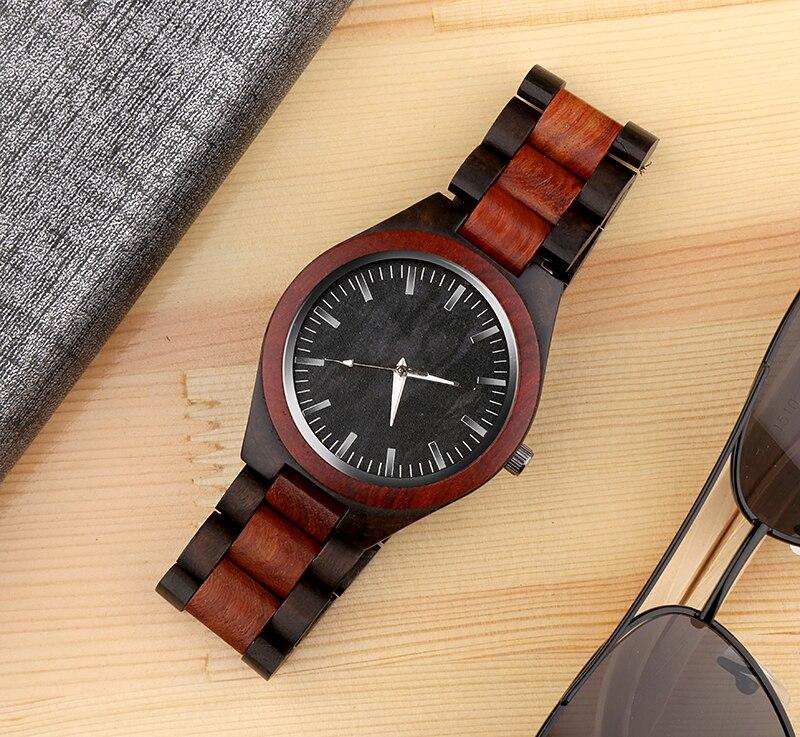 WAKNOER de Madeira Relógios De Madeira Original