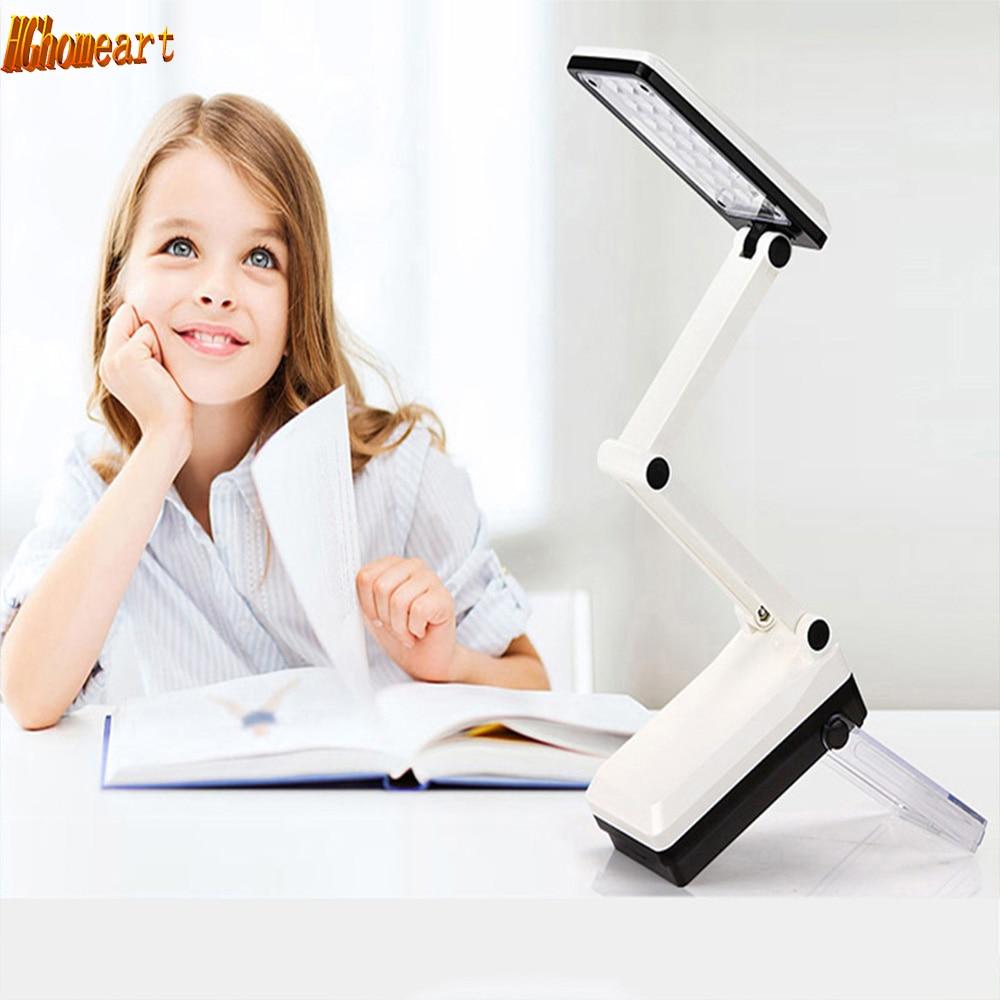 HGhomeart lecture LED rechargeable lampe œil pliage petite lampe de table pour les enfants qui apprennent à lire et écrire creative boucles