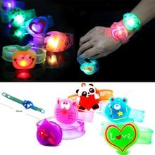 2pcs Flash LED Light Glow Bracelet Kids Costumes Toy Birthday Party Favor Props
