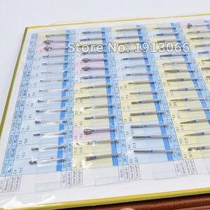 Image 2 - חדש יהלומי ספחת מדגם ספר 154 מודלים/pcs יהלומי ספחת קטלוג שיניים חומר מעבדת שיניים ציוד FG burs