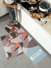 Nordic minimalist kitchen mat PVC leather bathroom waterproof oil proof Carpet Long strip rug non-slip soft rebound floor