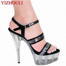 2f90270b Verano Zapatos fabricantes venta al por mayor con empeine 15 cm tacones  altos plataforma impermeable Sandalias