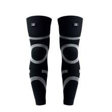 Kuangmi 1 Pair Knee Warmer Elastic Cycling Leg Warmers Legwarmers Outdoor Sports Basketball Sleeves Bike Riding Accessory