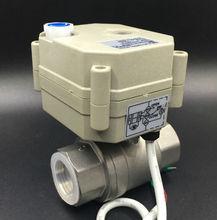 CE утвержден TF20-S2-B 2-способ BSP/ДНЯО 3/4 »Электрический Нержавеющая сталь Клапан AC/DC 9 В- 24 В 3 проводов для металла Шестерни