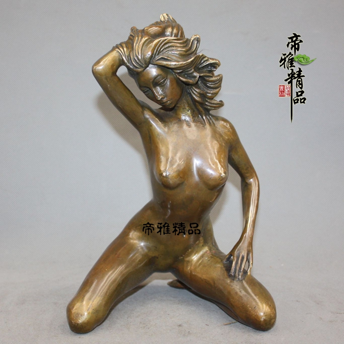 Western Europe very oomph Refined copper BRASS nude belle sculpture - Home Decor