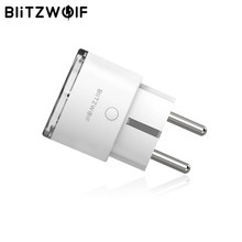 BlitzWolf BW-SHP6 EU Plug Metering Version WIFI Smart Socket 220V-240V 10A Work with Amazon Alexa For IFTTT For Google Assistant(China)