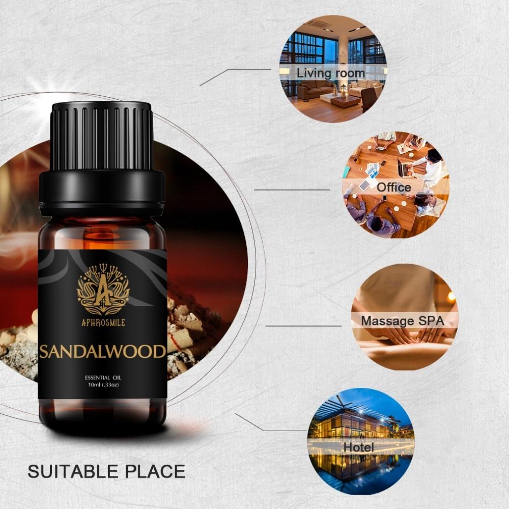 100% Natural Sandalwood Pure Essential Oil 10ml Face Moisturizer Dry Skin Anti Aging Anti Wrinkle Skin Care Meditation