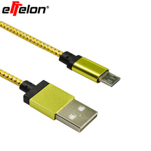 Effelon 1M/2M/3M/25CM Colorful Nylon Micro USB Cable Charger Data Sync USB Cable Cord For Android Smart Phone for tablet PC