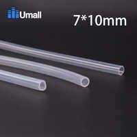 Tubo de manguera de silicona FDA de grado alimenticio de 7*10mm resistencia suave transparente sin tóxico baja temperatura resistencia, 10 M
