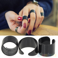 3Pcs New Fashion Ring Set Black Stack Plain Above Knuckle Ring Band Midi Rings  1OUM