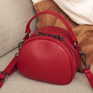 Image 2 - Sac à main en cuir véritable pour femmes, sac à bandoulière Fashion, petit sac à épaule de luxe, Top, fourre tout de soirée
