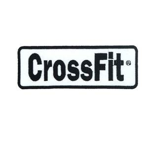 crossfit name tags Patch Embroidered Applique Sewing Label punk biker Clothes Stickers Apparel Accessories Badge(China)