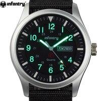 INFANTRY Military Watch Men Glow in Dark Wristwatch Mens Watches Top Brand Luxury Army Sport Date Day Nylon Relogio Masculino