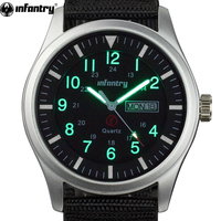 INFANTRY Military Watch Men Glow in Dark Wristwatch Mens Watches Top Brand Luxury Army Sport Date Day Nylon Relogio Masculino