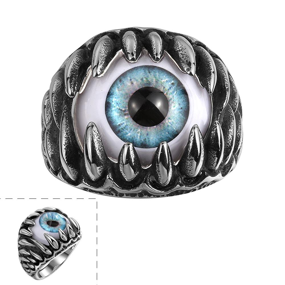 316l Stainless Steel Rings Men Jewelry Punk Ring Skull Claw Eye Ring Anel Summer Style Vintage Jewelry Party Rings For Men