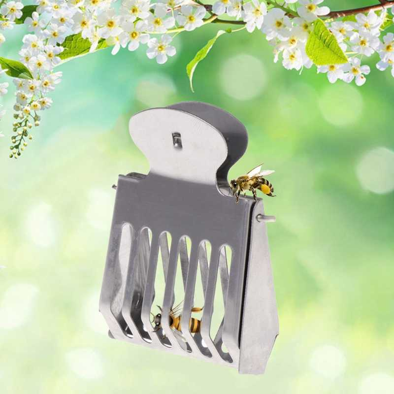 女王蜂ケージ囚人ステンレス鋼の女王養蜂ツール機器の付属品