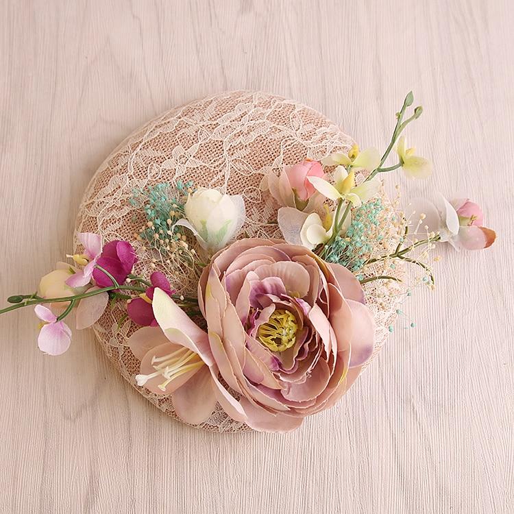 Kapelë dasmash prej liri rozë me dantellë - Aksesorë veshjesh - Foto 2