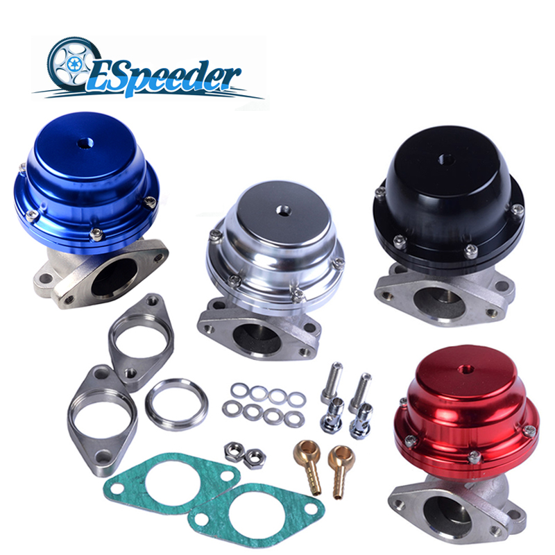 ESPEEDER 38mm Aluminum & Steel Turbo External Waste Gate With Flange & Hardware 5.8 PSI Wastegate Kit For Supercharge Manifold