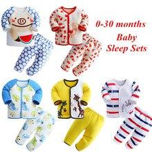 2016 spring and autumn 0-30 months newborn baby sleep sets cartoon baby sleeper 100% cotton baby boy girl clothes