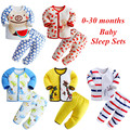 2017 spring and autumn 0-30 months newborn baby sleep sets cartoon baby sleeper 100% cotton baby boy girl clothes