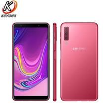 Новый samsung Galaxy A7 A750GN-DS 4G LTE мобильный телефон 6,0 «4G B Оперативная память 128 ГБ Встроенная память Восьмиядерный Три задних Камера 3300 мАч NFC Смартфон
