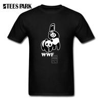 Funny Wwf Panda T Shirt Men Top Organnic Cotton T Shirts Round Collar Gorgeous Men Short